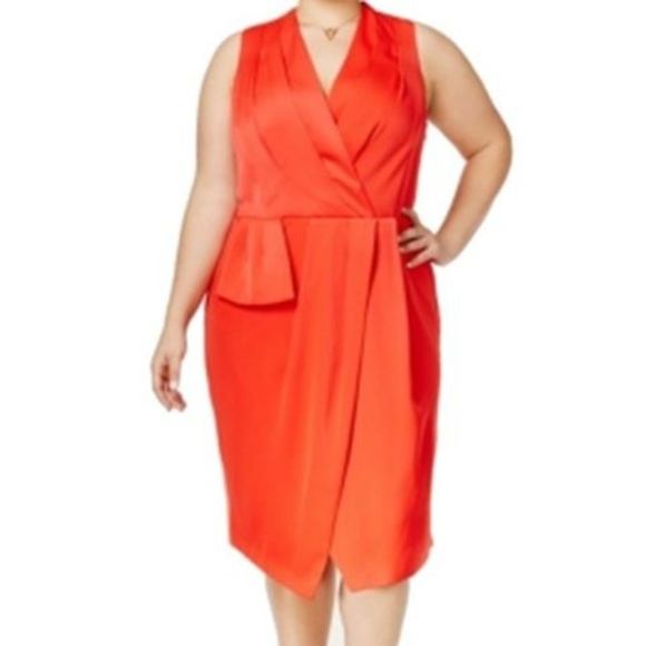 575d5d76b8f3 Rachel Roy Sleeveless Faux Wrap Dress Sz 18W NWT!